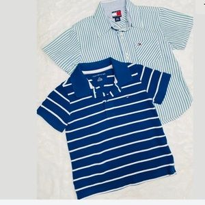 Tommy Hilfiger Button Up Shirt & Striped Polo 3T
